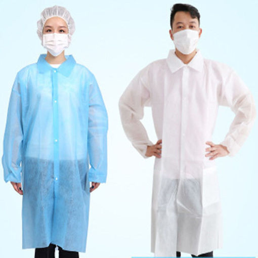 Picture of Disposable white non-woven dustproof clothing